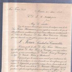 Sellos: CIRCULAR PUBLICITARIA. JOSE FERRER. DE MURCIA A JEREZ. 1907. CON SELLOR. VER. Lote 56777516