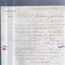 Sellos: CIRCULAR PUBLICITARIA. EUGENIO HAINS. CON SELLO. DE MARSELLA A JEREZ. 1886. VER. Lote 56783822