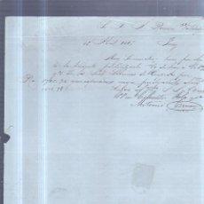 Sellos: CIRCULAR PUBLICITARIA. CIFUENTES POLA Y CIA. DE GIJON A JEREZ. 1889. CON SELLO. VER. Lote 89524519