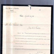 Sellos: CIRCULAR PUBLICITARIA. JOSE NEIRA Y CANDAN. 1901. DE CADIZ A JEREZ. CON SELLO. VER. Lote 56784159