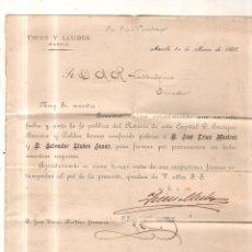 Sellos: CIRCULAR. 1898. DE MANILA A JEREZ POR VAPOR COVADONGA.. Lote 56915073