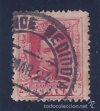 EDIFIL 317 ALFONSO XIII. TIPO VAQUER 1922-1930. MATASELLOS ALCANCE MEDIODÍA DE MARZO DE 1924. LUJO. (Sellos - España - Alfonso XIII de 1.886 a 1.931 - Usados)