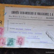 Francobolli: ALFONSO XIII 1920S COMPAÑÍA IBERO-AMERICANA DE PUBLICACIONES MADRID PAQUETE POSTAL PORTUGAL VAQUER. Lote 57923788