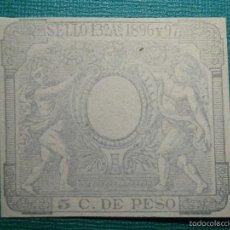Sellos: FISCALES - TIMBRE - SELLO DE PAPELES OFICIALES Y OFICIO - 13º CLASE 1896 Y 97 - 5 CÉNTIMOS DE PESO -. Lote 58162414