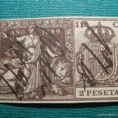 Sellos: FISCALES, TIMBRE, SELLO PAPELES OFICIALES - SELLO 11º CLASE 1899 - 2 PESETAS. Lote 58162647
