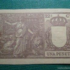 Sellos: FISCALES, TIMBRE, SELLO PAPELES OFICIALES - SELLO 12º CLASE 1899 - UNA PESETA -. Lote 58162659
