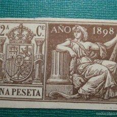 Sellos: FISCALES, TIMBRE, SELLO PAPELES OFICIALES - SELLO 12º CLASE 1898 - UNA PESETA -. Lote 58162668