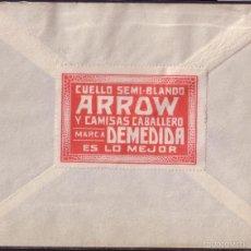 Sellos: ESPAÑA. (CAT.319+VIÑETA). 1929. SOBRE D ZARAGOZA/SUIZA. 40C. MAT. RODILLO. DORSO VIÑETA PUBLICITARIA. Lote 58256599