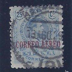 Sellos: EDIFIL 294 ALFONSO XIII. TIPO MEDALLÓN. SELLO DE 1909 HABILITADO CORREO AÉREO. 1920.. Lote 58646978