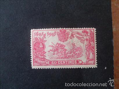 ESPAÑA,1905,III CENTENARIO PUBLICACIÓN QUIJOTE,EDIFIL 262*,NUEVO,GOMA,SEÑAL FIJASELLOS,(LOTE RY) (Sellos - España - Alfonso XIII de 1.886 a 1.931 - Nuevos)