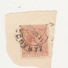 Sellos: ALFONSO XIII. COMUNICACIONES. EDIFIL 217. FRAGMENTO CON FECHADOR DE ZARAGOZA.. Lote 60851967