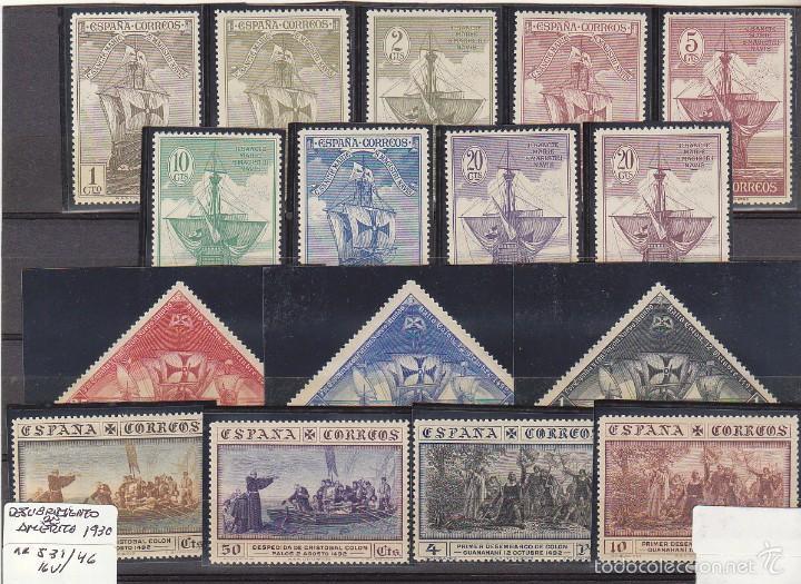XX 531/46 DESCUBRIMIENTO DE AMÉRICA 1830 (Sellos - España - Alfonso XIII de 1.886 a 1.931 - Nuevos)