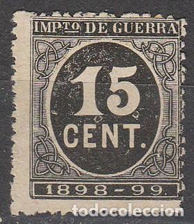 EDIFIL 238, IMPUESTO DE GUERRA, CIFRAS NEGRO, NUEVO SIN GOMA (Sellos - España - Alfonso XIII de 1.886 a 1.931 - Nuevos)