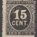 Sellos: EDIFIL 238, IMPUESTO DE GUERRA, CIFRAS NEGRO, NUEVO SIN GOMA. Lote 63331632