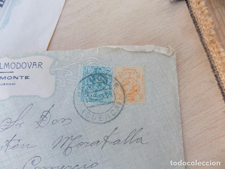 Sellos: sobre comercial, 1921, belmonte , cuenca, contiene carta, azafranes - Foto 3 - 64135535