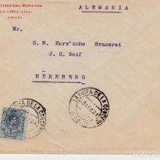 Sellos: SOBRE COMERCIAL DE FRANCISCO DEL MANZANO EN LA LINEA DE LA CONCEPCIÓN -CÁDIZ- 1921. Lote 66492438