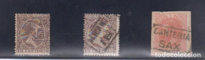 MATESELLOS TIPO CARTERÍA. ALICANTE (Sellos - España - Alfonso XIII de 1.886 a 1.931 - Usados)