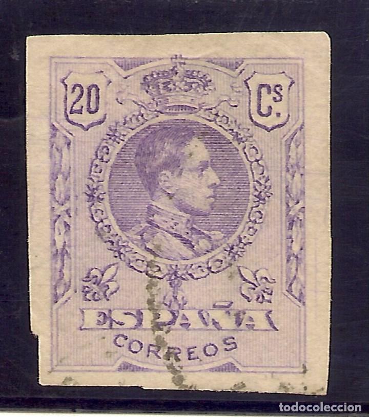 EDIFIL 273SA (º) SIN DENTAR ALFONSO XIII MEDALLÓN 1909 20 CÉNTIMOS LILA NL904 (Sellos - España - Alfonso XIII de 1.886 a 1.931 - Nuevos)