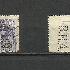 Sellos: ESPAÑA, 1909/22 ALFONSO XIII, MEDALLÓN, 15C., PERFORADO B.H.A.. Lote 68630382