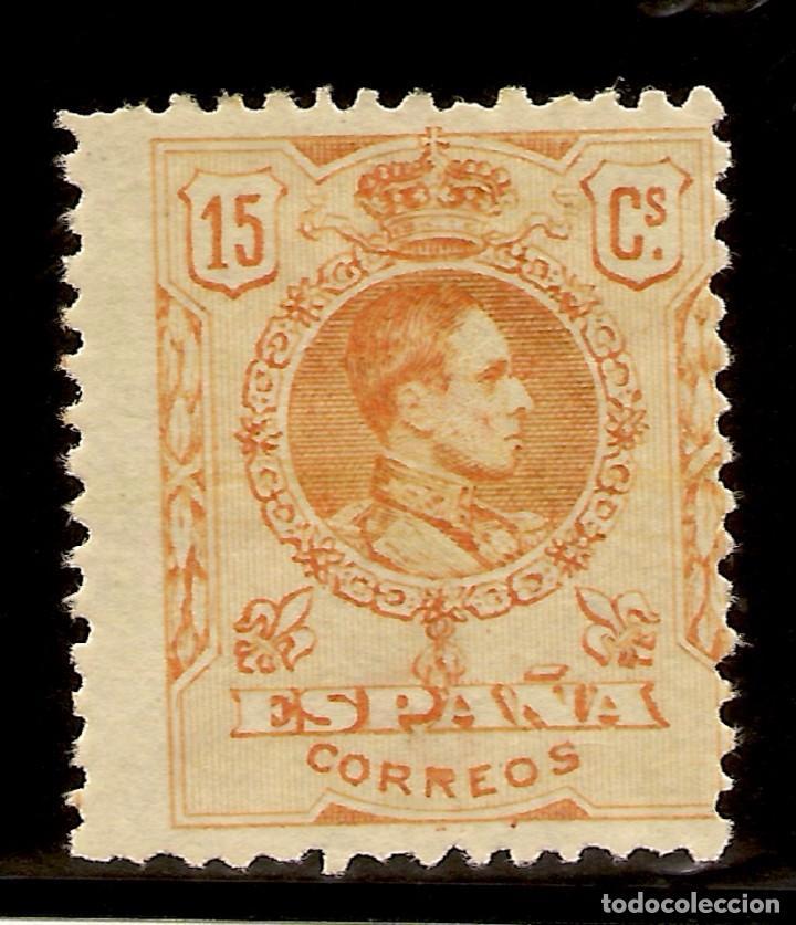 EDIFIL 271** ALFONSO XIII MEDALLÓN 15 CÉNTIMOS AMARILLO 1909/1922 NL1156 (Sellos - España - Alfonso XIII de 1.886 a 1.931 - Nuevos)
