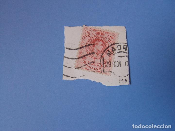 Sellos: Lote 2 sellos: Alfonso XIII (10 y 15 cts.) 1909 ¡Originales! Matasello - Foto 3 - 68971985