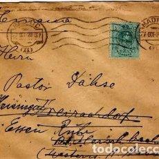 Sellos: [CF4132] ESPAÑA 1909, ALFONSO XIII, 5C. EN SOBRE (U). Lote 70397693