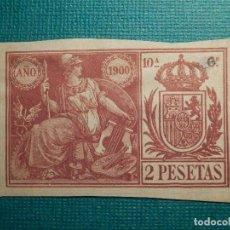 Sellos: SELLO FISCAL CLASICO - POLIZA - TIMBRE PAPELES OFICIALES - AÑO 1900 - 10'ª CLASE - 2 PESETAS. Lote 71037089