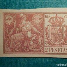 Sellos: SELLO FISCAL CLASICO - POLIZA - TIMBRE PAPELES OFICIALES - AÑO 1900 - 10 'ª CLASE - 2 PESETAS. Lote 71037745