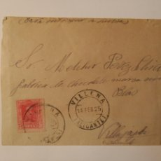 Sellos: CORREO DE VILLENA A VILLAJOYOSA . 1925. Lote 71073474