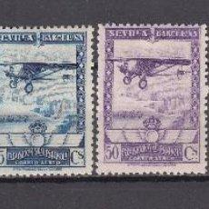Sellos: 1929 EXPOSICIÓN DE SEVILLA Y BARCELONA CORREO AÉREO , EDIFIL Nº 448 / 453 / * / , BUENOS CENTRAJES . Lote 73412907