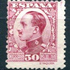 Francobolli: EDIFIL 496. 30 CTS ALFONSO XIII, TIPO VAQUER DE PERFIL. MATASELLADO. Lote 73691703