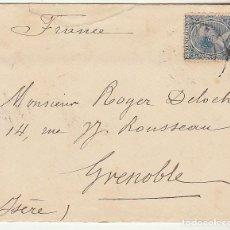 Sellos: SELLO 221 .BILBAO A ISERE (GRENOBLE) . 1894.. Lote 73746879