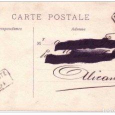 Sellos: IBI CARTERIA ALICANTE - TARJETA POSTAL ROMÁNTICA FECHADA EN 1905 . DOBLE ESTAMPACION. Lote 74331067