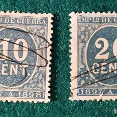 Sellos: AÑO 1897. CIFRAS. Nº 233 Y 235. Lote 74333315
