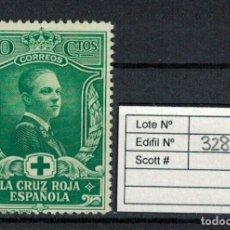 Sellos: CRUZ ROJA ESPAÑOLA (10 CENTIMOS 1926). EDIFIL 328. USADO. Lote 75136303