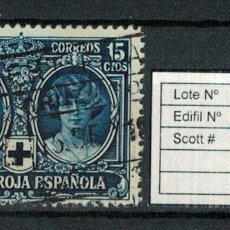 Sellos: CRUZ ROJA ESPAÑOLA (15 CENTIMOS 1926). EDIFIL 329. USADO. Lote 75136471
