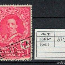 Sellos: CRUZ ROJA ESPAÑOLA (25 CENTIMOS 1926). EDIFIL 331. USADO. Lote 75136935