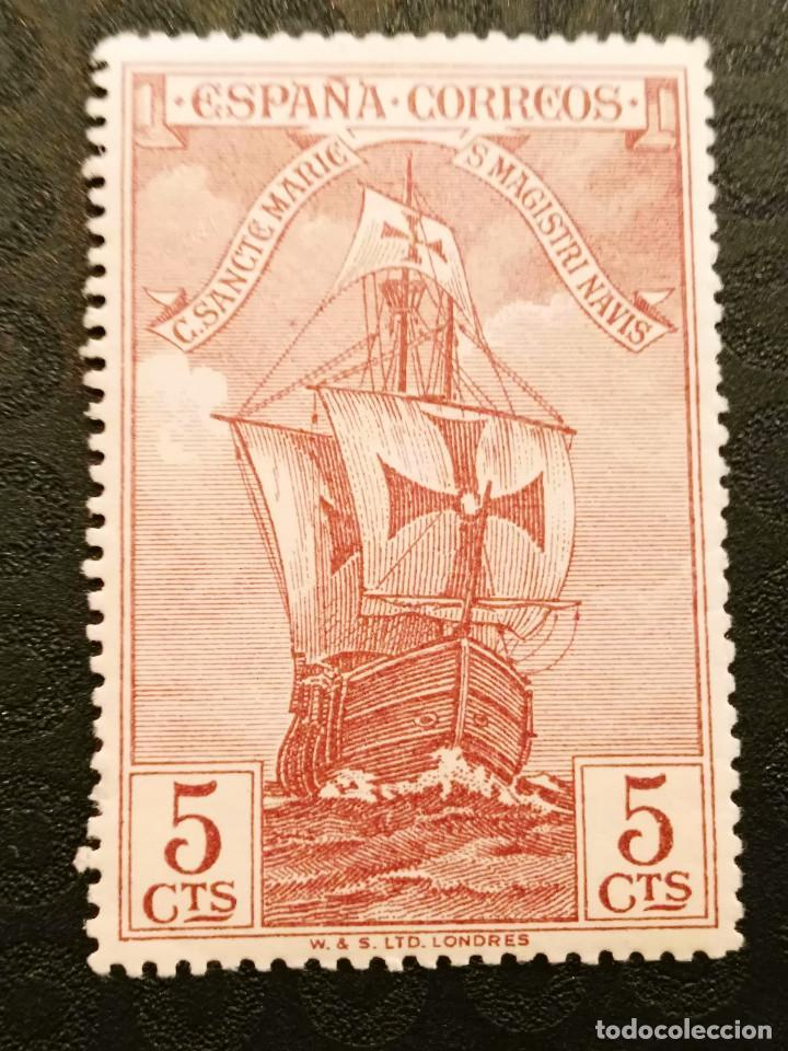 NUEVO - EDIFIL 535 CON FIJASELLOS - SPAIN 1930 MH - DESCUBRIMIENTO AMERICA /M (Sellos - España - Alfonso XIII de 1.886 a 1.931 - Nuevos)
