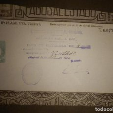 Sellos: PAGOS AL ESTADO - SELLO FISCAL- POLIZA - TIMBRE - AÑO 1887 - CLASE 9 ª - 1 PESETA - VERDE. Lote 75313667