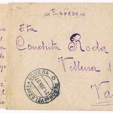 Sellos: PEÑON DE VELEZ DE LA GOMERA - 1927 - MELILLA - VALENCIA. Lote 76068043