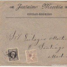 Sellos: SOBRE : SELLOS 219 Y 240. CIUDAD RODRIGO A MADRID. 1899.. Lote 76938121