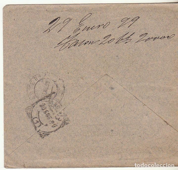 Sellos: SOBRE : Sellos 219 y 240. CIUDAD RODRIGO a MADRID. 1899. - Foto 2 - 76938121