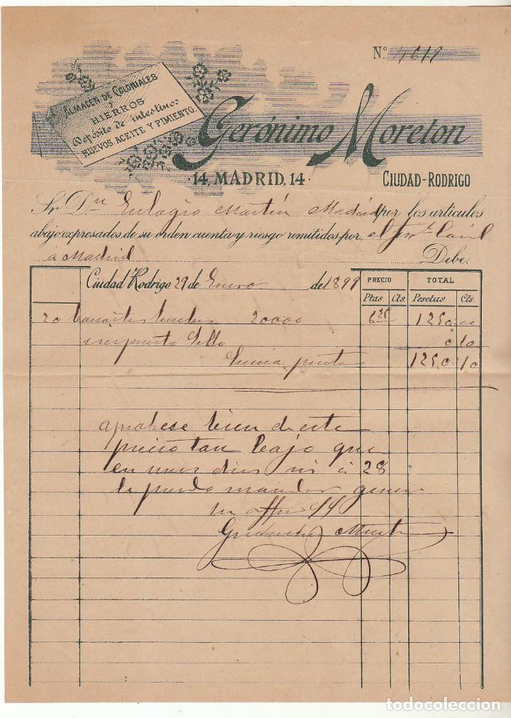 Sellos: SOBRE : Sellos 219 y 240. CIUDAD RODRIGO a MADRID. 1899. - Foto 3 - 76938121