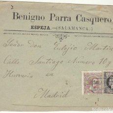 Sellos: SOBRE : SELLOS 219 Y 240. ESPEJA-SALAMANCA A MADRID. 1898.. Lote 76940237