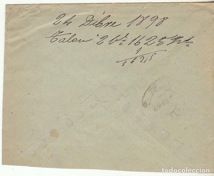 Sellos: SOBRE : Sellos 219 y 240. ESPEJA-SALAMANCA a MADRID. 1898. - Foto 2 - 76940237