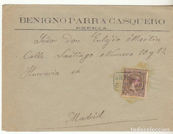 SOBRE : SELLO 219. ESPEJA-SALAMANCA A MADRID. 1899. (Sellos - España - Alfonso XIII de 1.886 a 1.931 - Cartas)