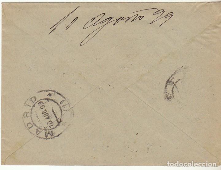 Sellos: SOBRE : Sello 219. ESPEJA-SALAMANCA a MADRID. 1899. - Foto 2 - 76940841