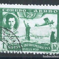 Sellos: R12/ ESPAÑA USADOS 1930, EDF. 588, PRO UNION IBEROAMERICANA. Lote 77074929