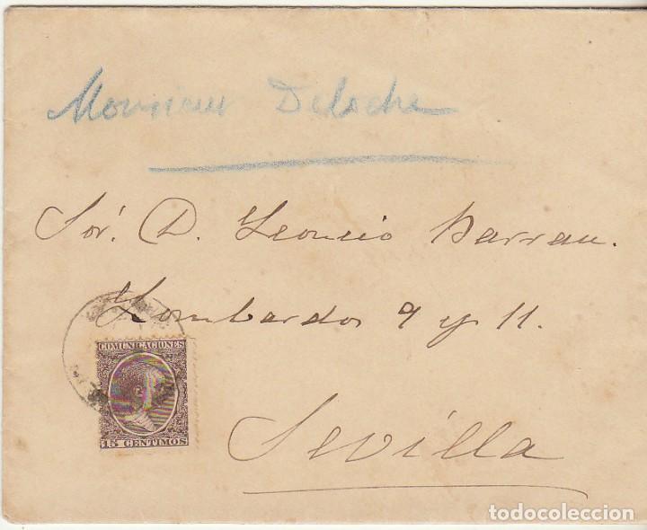 SELLO 219 : MEDELLIN A SEVILLA. 1900. (Sellos - España - Alfonso XIII de 1.886 a 1.931 - Cartas)