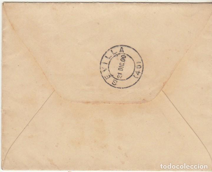 Sellos: Sello 219 : MEDELLIN a SEVILLA. 1900. - Foto 2 - 78213957
